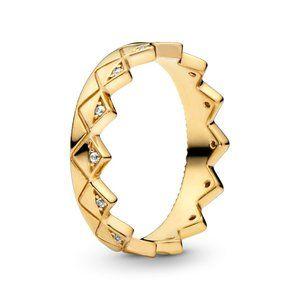 Pandora Geometric Crown Ring